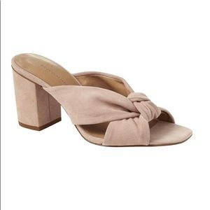 Banana republic pink peep toe knot heels / sandals